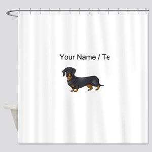 Dachshund (Custom) Shower Curtain